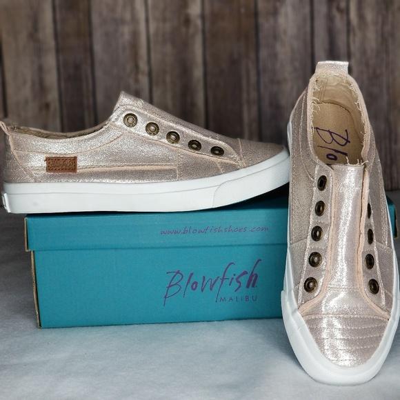 fc5cdef446fb Blowfish Play Sneakers - Rose Gold NIB